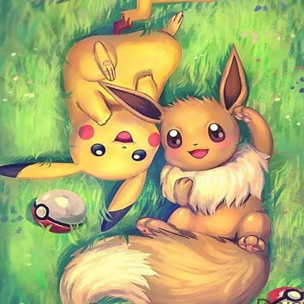 Pikachu y Eevee