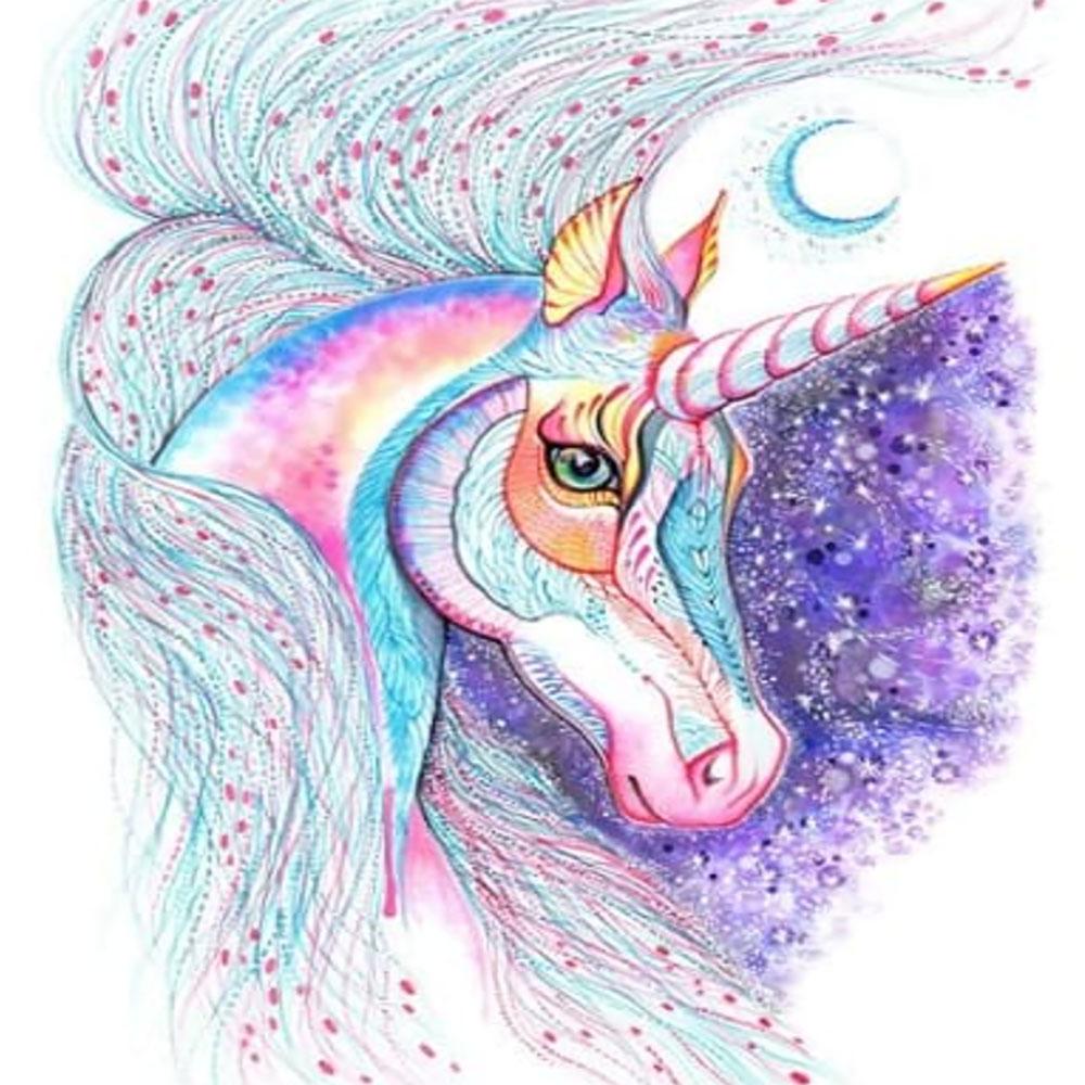 Unicornio con Luna