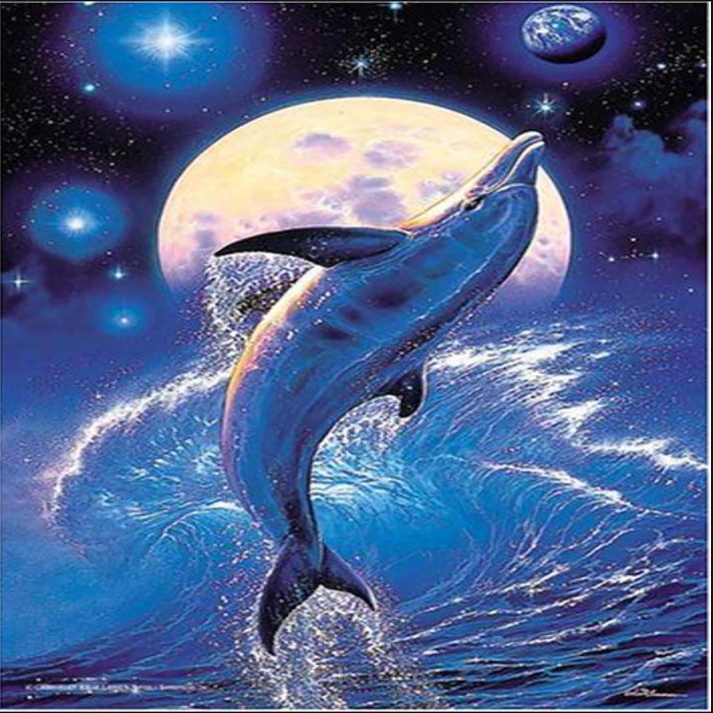 Delfín con Luna