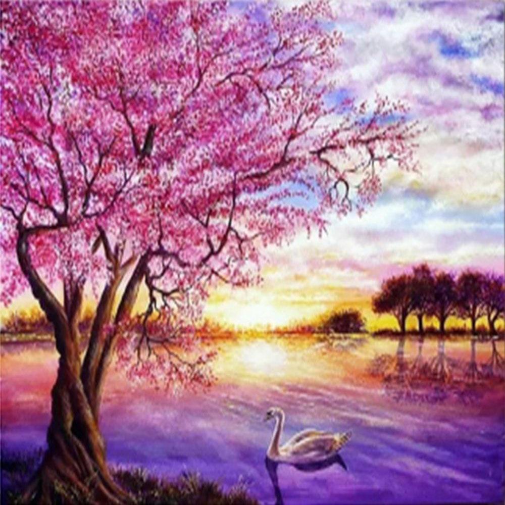 Paisaje Árbol Sakura