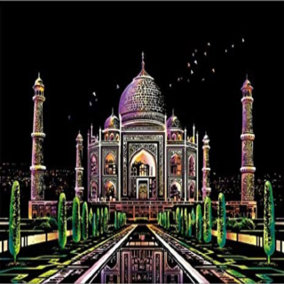 Taj Mahal - Scratch Art