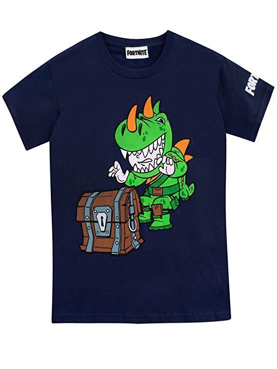 Dino,Camiseta,de,Manga,Corta,para,Niños,