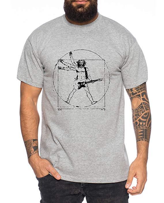 Tee,Kiki,Vinci,Rocks,Camiseta,de,Hombre,Cool,Fun-Shirt