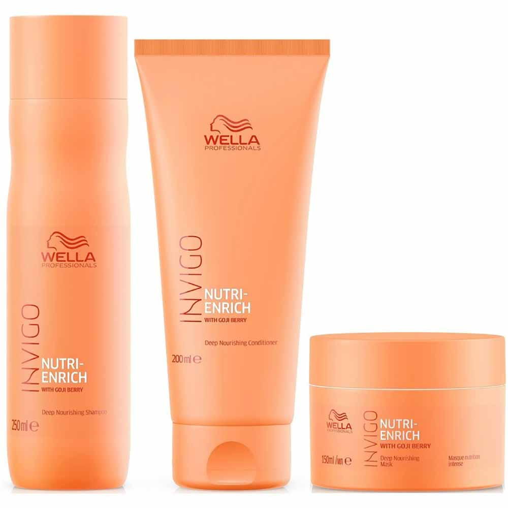 Pack Wella Invigo Nutri Enrich Shampoo 250 ml + Acond. 200 ml + Masc. 150 ml