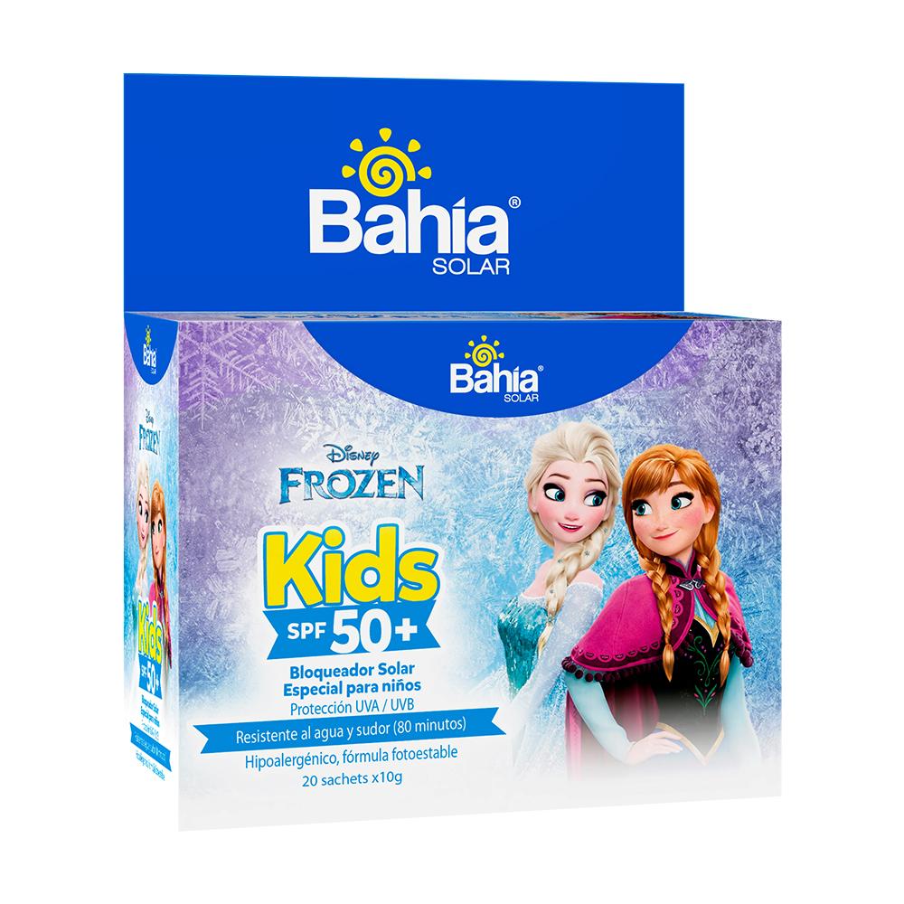 Bloqueador Bahía Kids SPF 50 + Frozen - 20 sachets de 10g