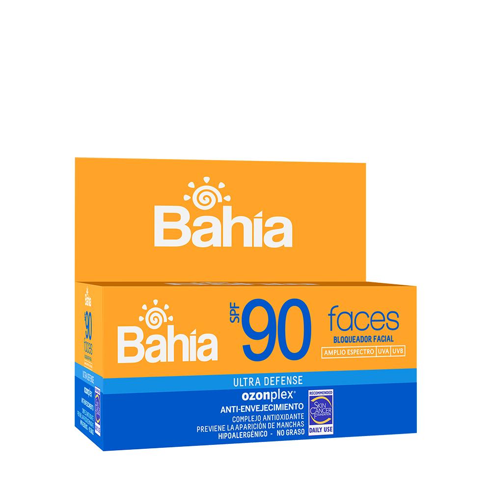 Bloqueador Bahía Faces SPF 90 - 10 sachets de 10g
