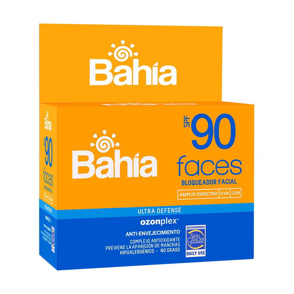 Bloqueador Bahía Faces SPF 90 - 20 sachets de 10g