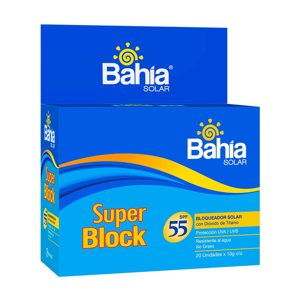 Bloqueador Bahía SupBlock SPF 55 - 20 sachets de 10g