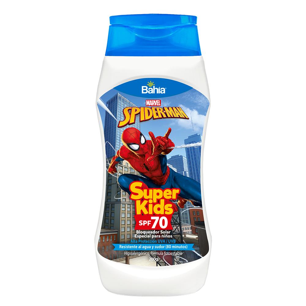Bloqueador Bahía Super Kids Spiderman SPF 70 x 200g