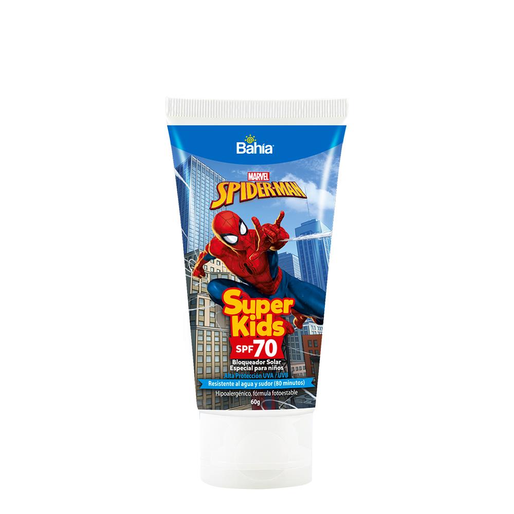 Bloqueador Bahía Super Kids Spiderman SPF 70 x 60g
