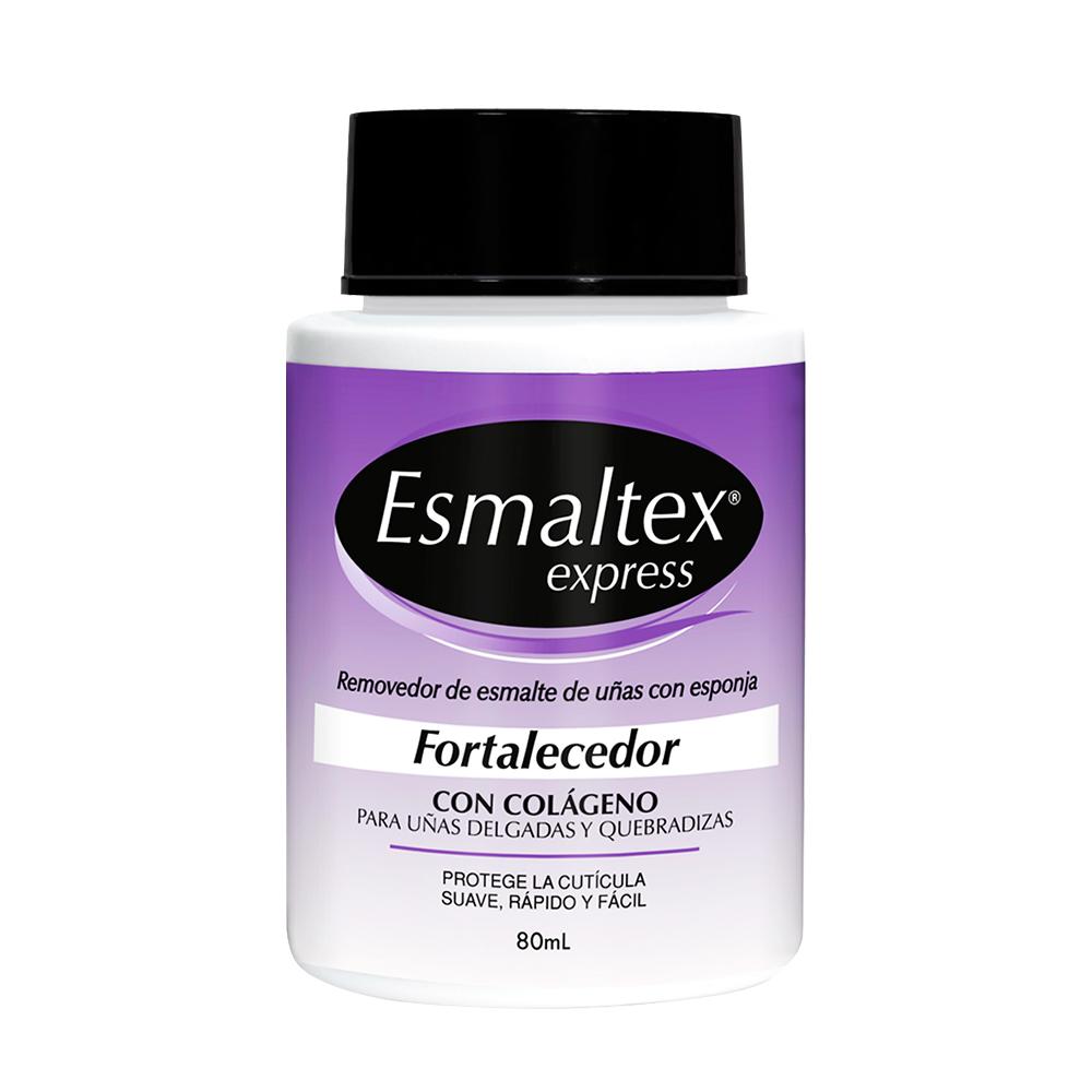 Removedor de esmalte Exmaltex con esponja Fortalecedor x 80ml Portugal Cosmetics