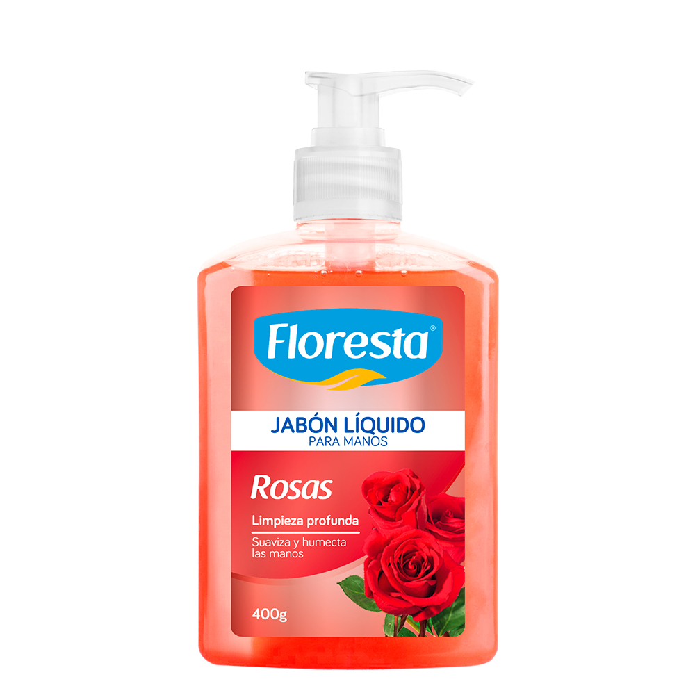 JABON FLORESTA PARA MANOS ROSAS 400 G