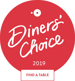 Awarded Open Table Diners' Choice Award 2019