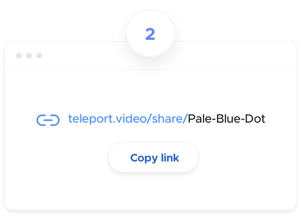 Box to copy a link to share your screen online