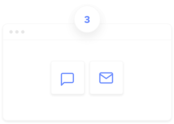 Invite buttons to chat or email your ShareScreen link