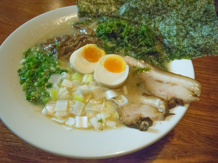 Ramen featuring rough ingredients