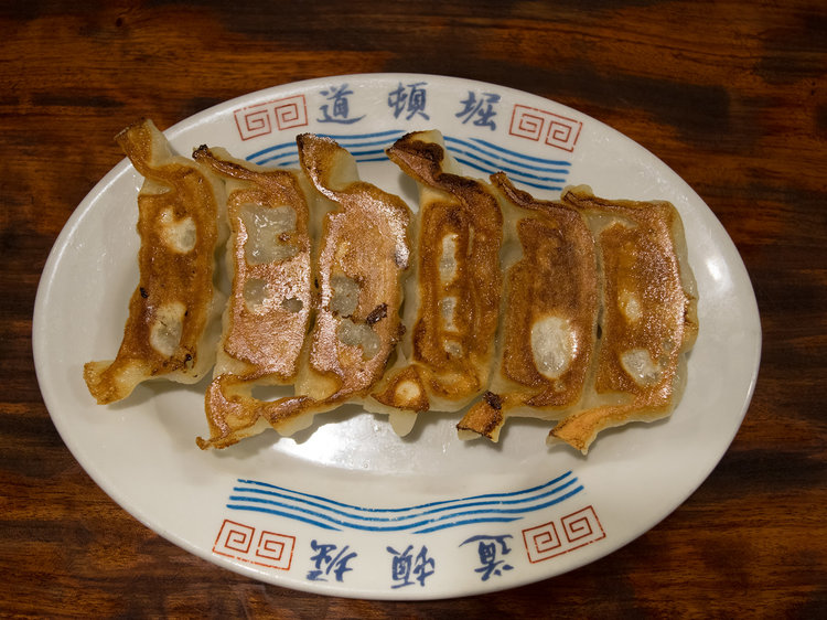 Yaki-Gyoza - ¥500  The savory and juicy yaki-gyoza are a must-eat as well.