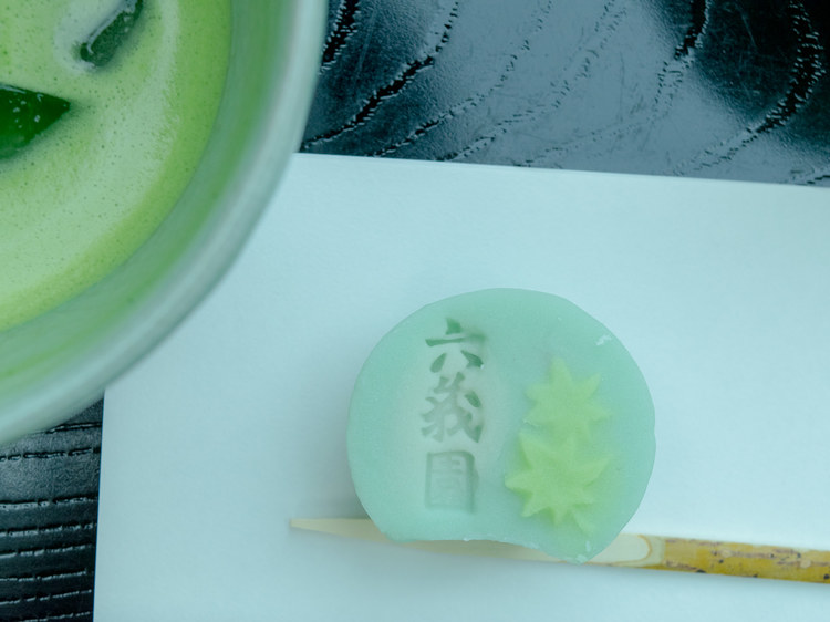 matcha tea and traditional confectionery