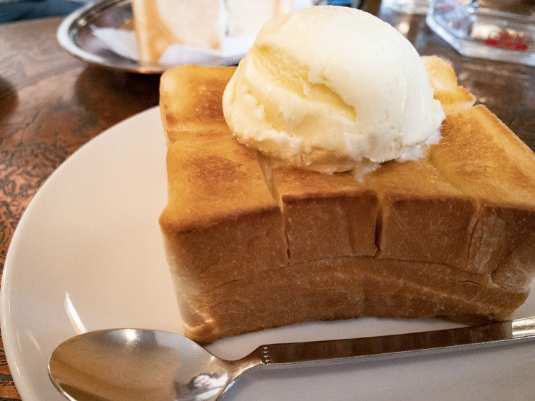 Honey toast (550 yen)