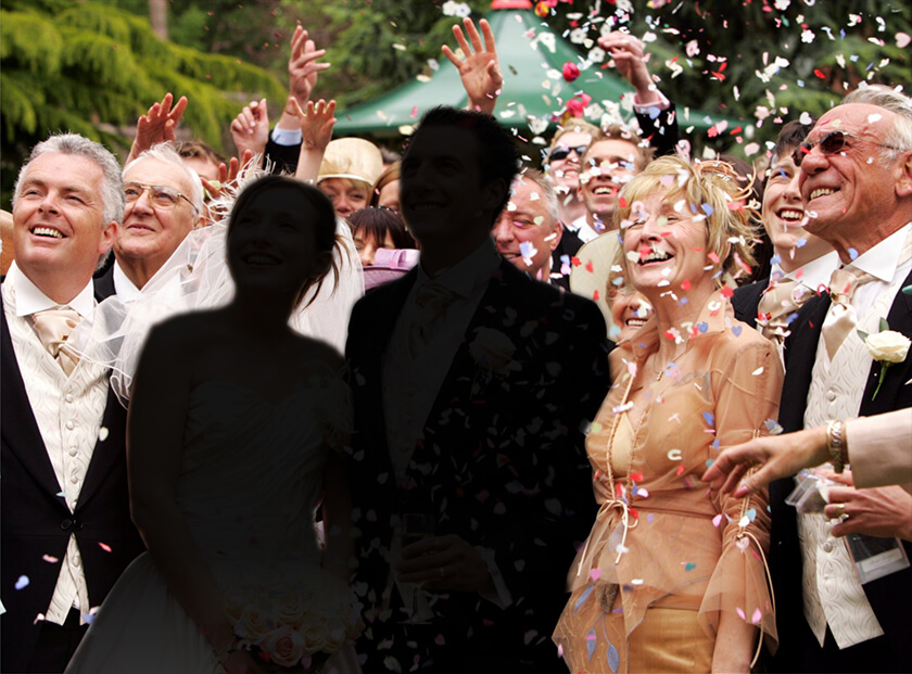 Bride and Groom Blurred Out