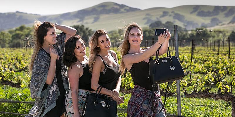Gal Pal Selfie at a Vineyard