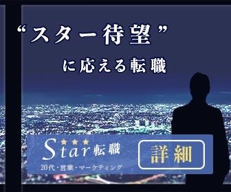 20代・営業・マーケティング求人 Star転職