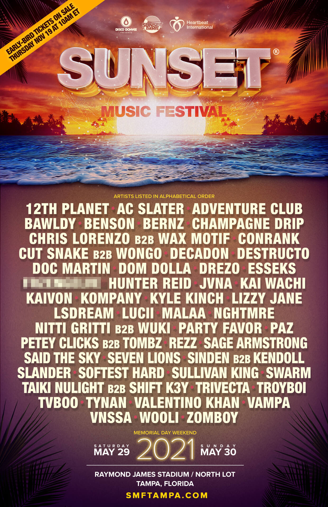 sunset music festival 2021 lineup