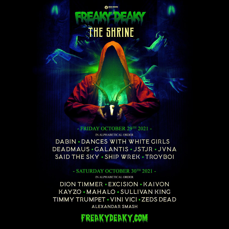 freaky deaky festival 2021 shrine stage