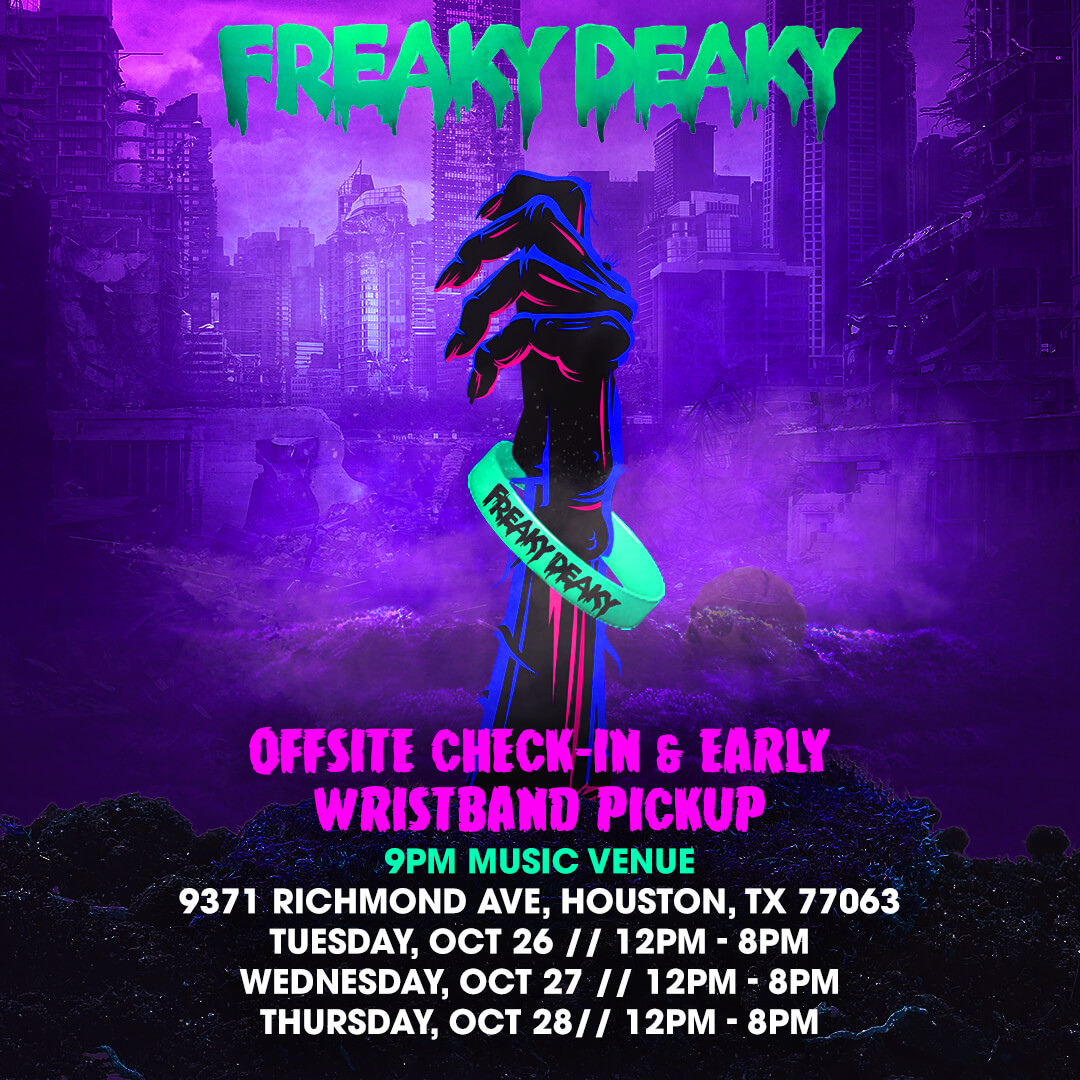 Off-Site Check-In & Early Wristband Pickup