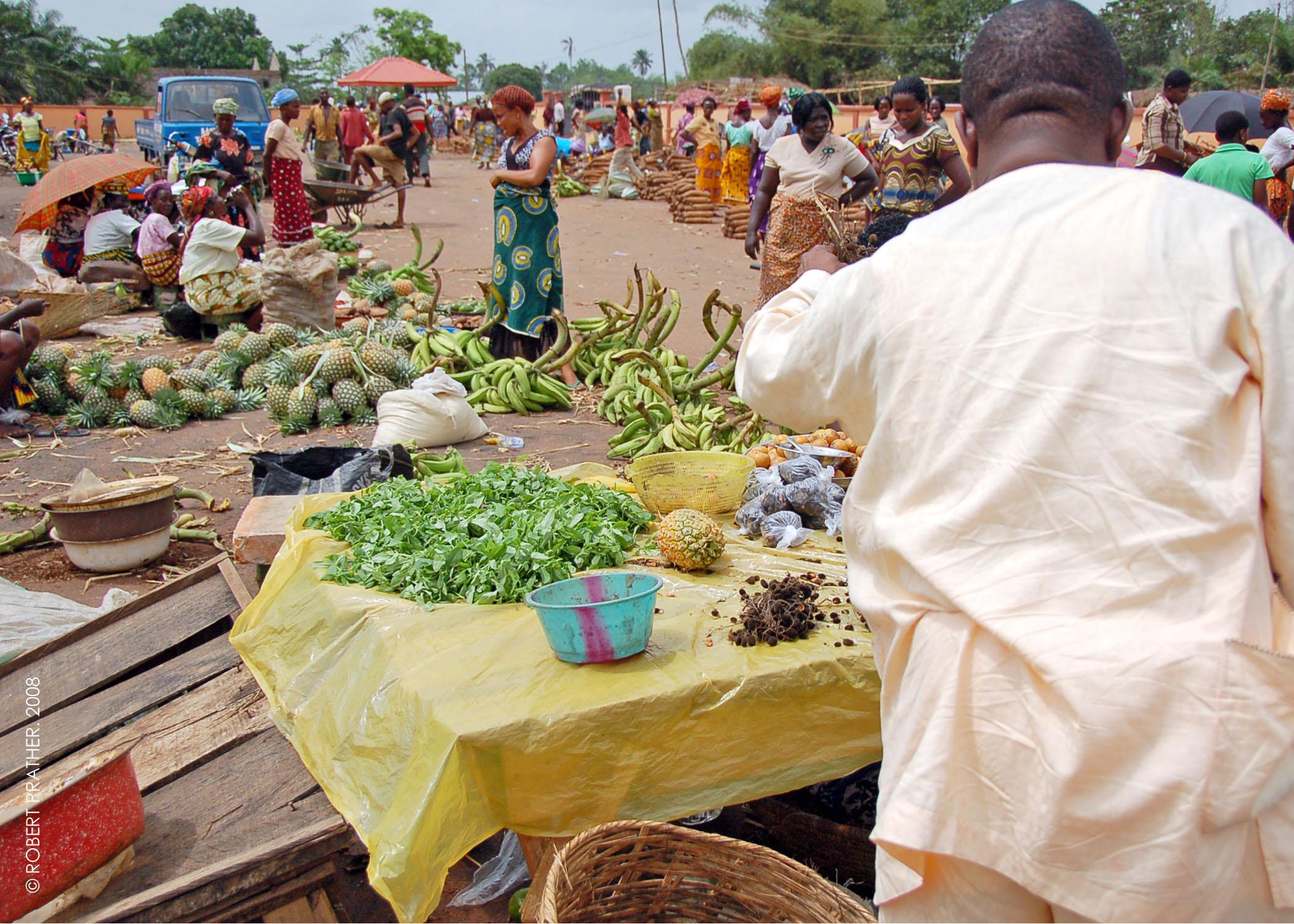 奈及利亞三角洲省(Delta state)Abavo市場(圖/Robert/CC BY 2.0)