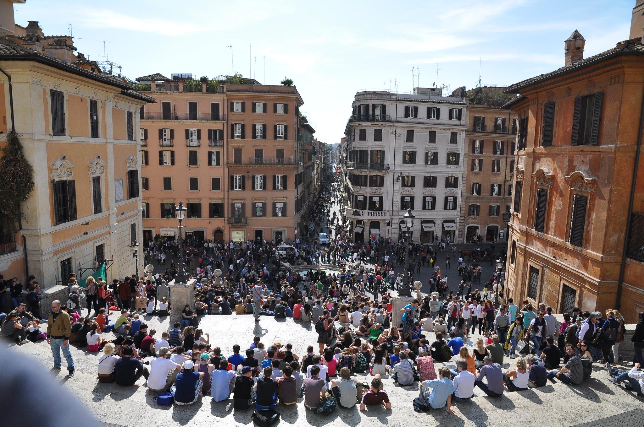 羅馬知名的西班牙廣場(圖/David Sutterlütti/CC BY-SA 2.0)