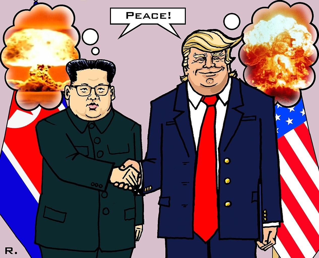 川普與金正恩的World-Peace(圖/Markusszy/CC BY-SA 4.0)