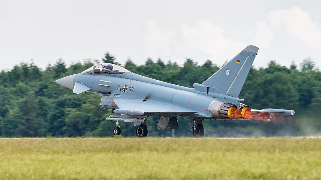 德國颱風式戰機(Eurofighter Typhoon)(圖/Julian Herzog/CC BY 4.0)