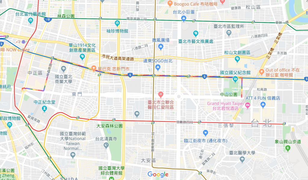 同志遊行26日登場 Google地圖秀路線(圖/Goolge)