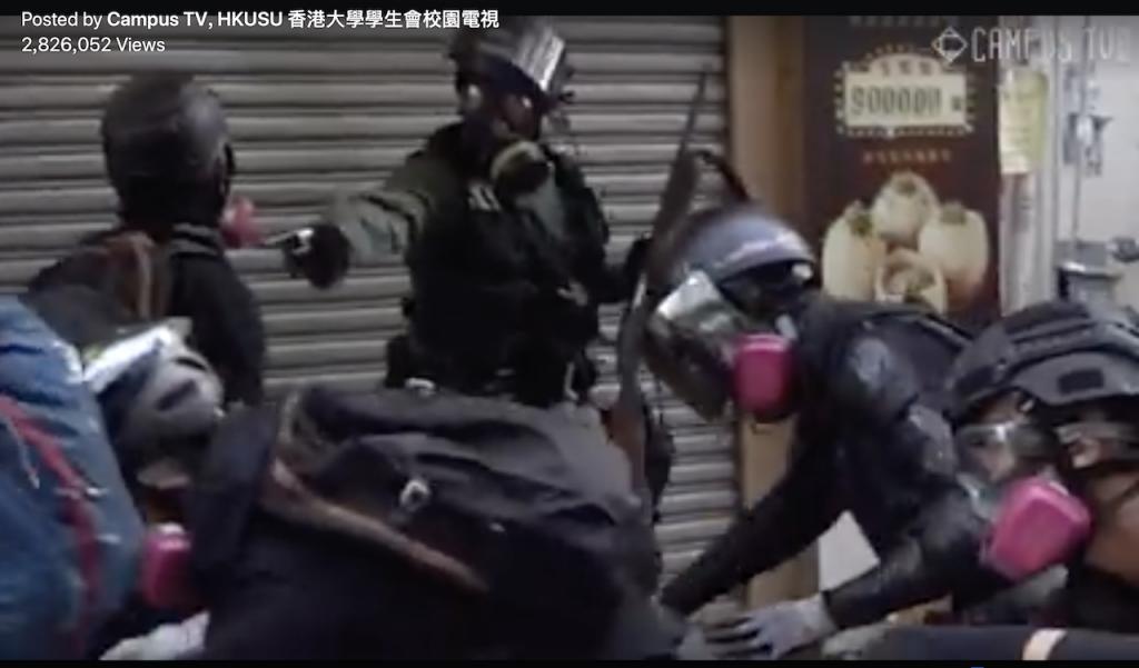 反送中18歲學生中槍 校董會:絕不離他而去(圖/Campus TV, HKUSU 香港大學學生會校園電視臉書)