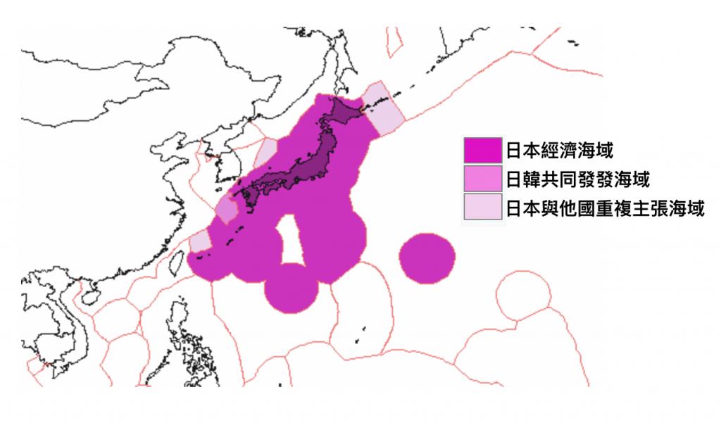 日本專屬經濟海域(圖/Gugganij/CC BY-SA 3.0)