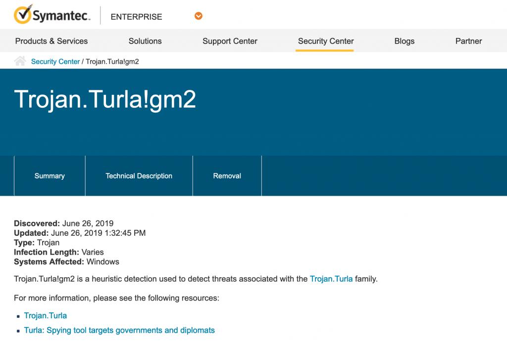 防毒軟體公司賽門鐵克(Symantec)於 6 月發布的安全警示,也間接證實了該諜吃諜的現象,以及俄羅斯駭客行為所造成的危害(圖/symantec.com)