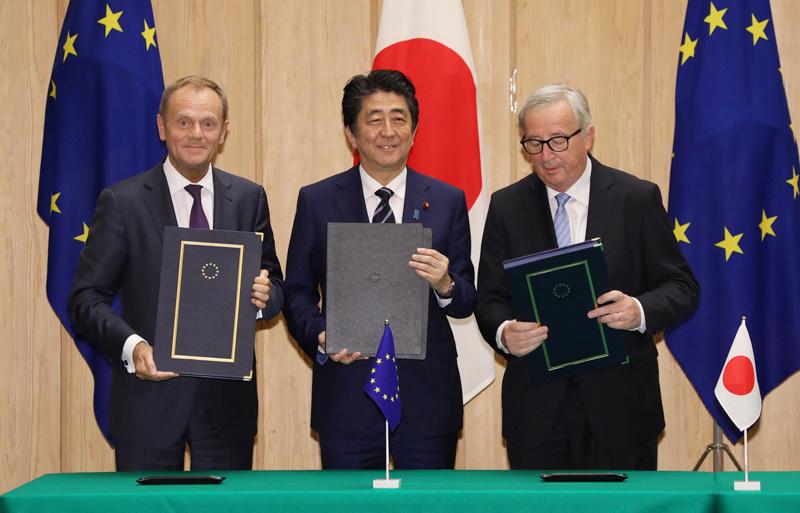 歐盟與日本攜手,啟動「歐亞連結計畫」(圖/内閣官房内閣広報室/CC BY 4.0)