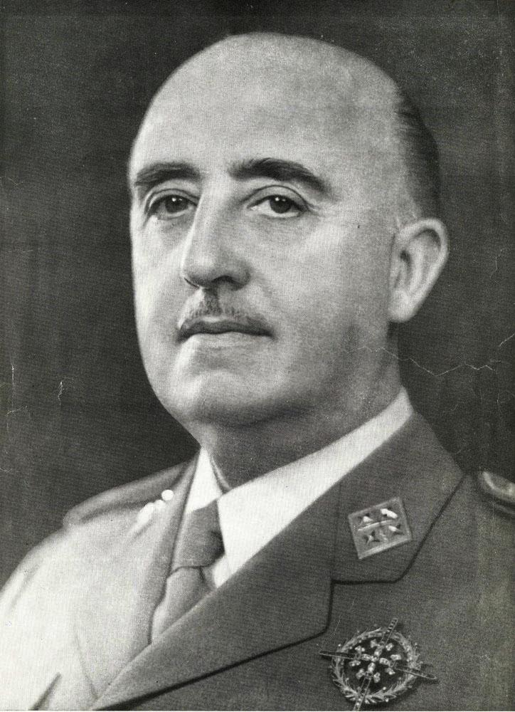 西班牙獨裁者佛朗哥(圖/維基百科/CC0 1.0)