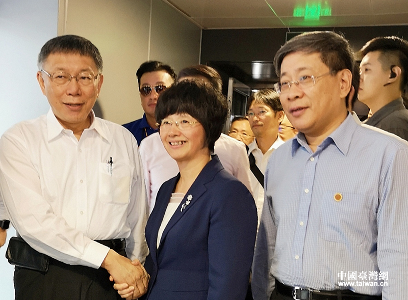 上海台辦李文輝(圖中右一)悄悄抵台 21日會柯文哲(圖/杭州台辦)