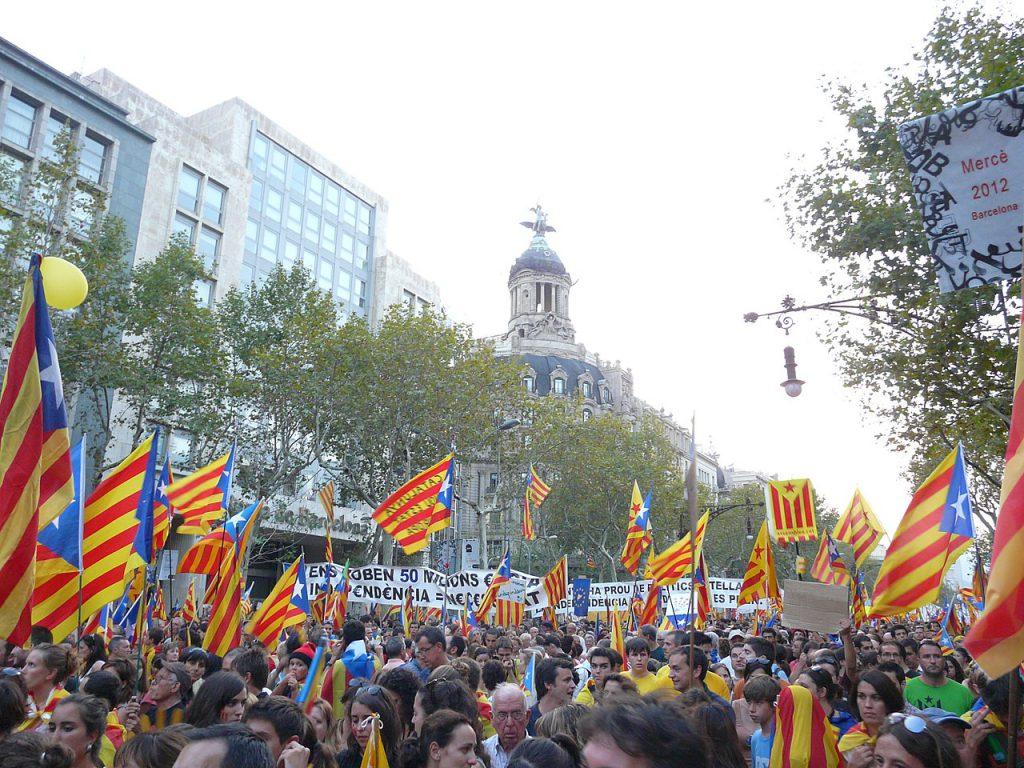 加泰隆尼亞高喊獨立(圖/Pere prlpz/CC BY-SA 3.0)