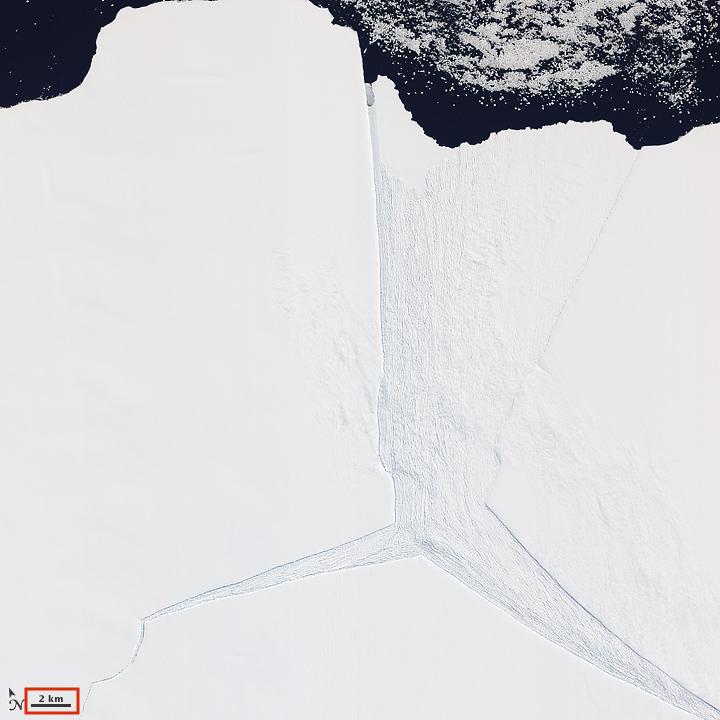 南極大陸東部的阿里梅冰架(Amery Ice Shelf)(圖/NASA Earth Observatory/公有領域)
