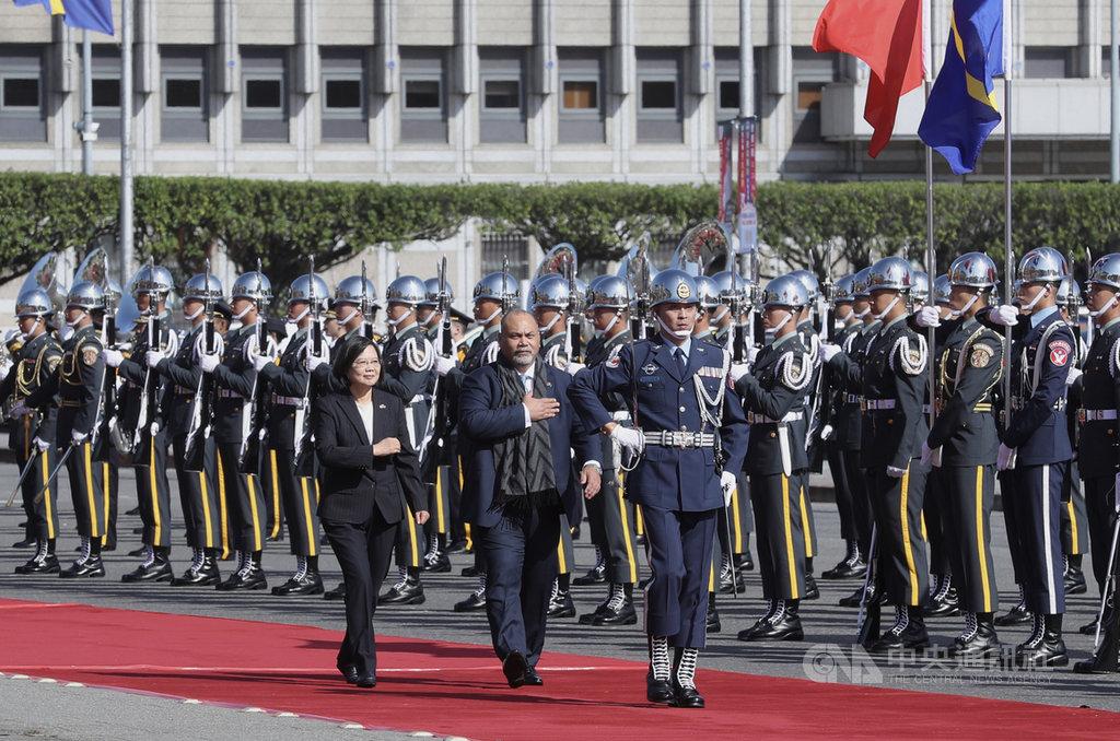 蔡總統今日歡迎諾魯總統安格明