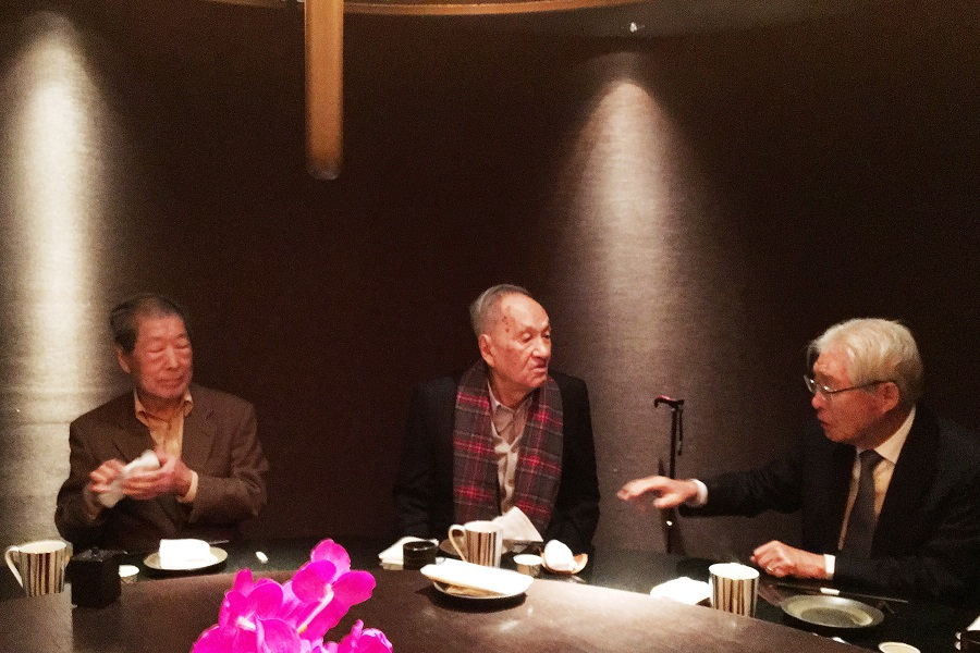 (左起)宗像隆幸、彭明敏、黃崑虎 圖/毛清芬女士提供