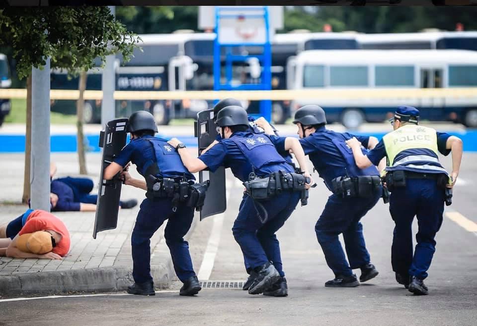 警察演練選前治安維護工作
