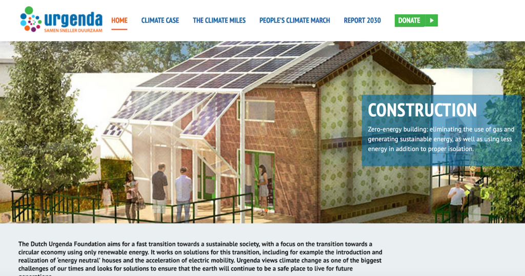 荷蘭環保組織 Urgenda(圖/Urgenda首頁)