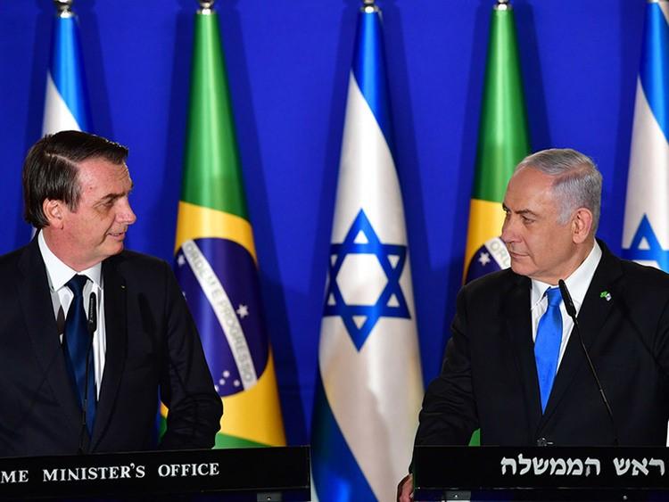 以色列總理納坦雅胡與巴西總統波索納洛(圖/以色列政府)