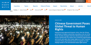 人權組織:中國在全球「嚴重」侵害人權(圖/人權觀察)