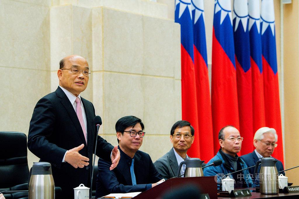 蘇貞昌內閣獲得留任