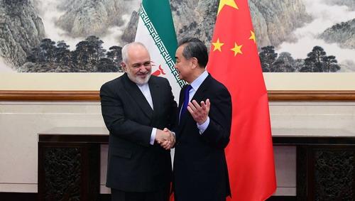 中國外交部長王毅會見伊朗外交部長 Mohammad Javad Zarif(圖/中國外交部)